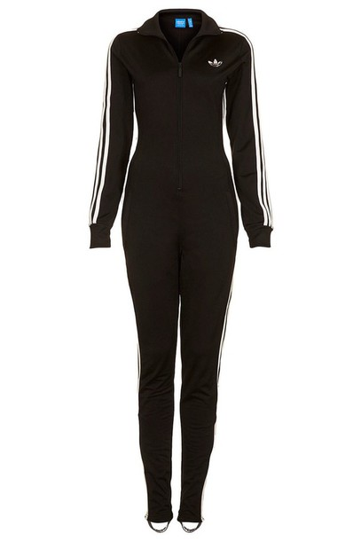 jumpsuit all in one adidas black and white one piece