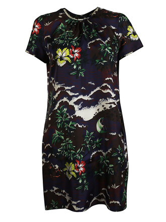 dress printed dress short