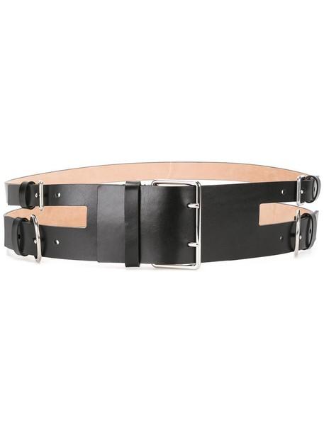 Alexander Mcqueen women belt leather black