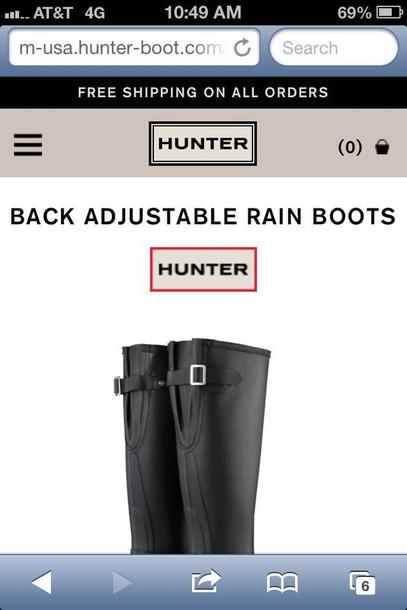 shoes black hunter rain boots