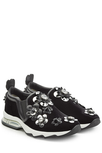 sneakers. suede sneakers embellished sneakers suede black shoes