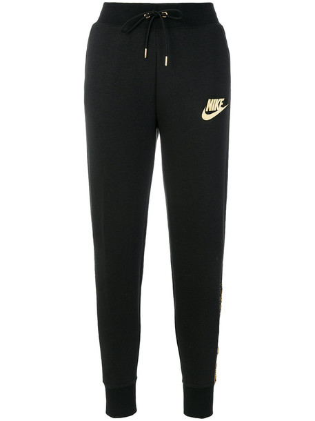 Nike pants track pants women cotton black