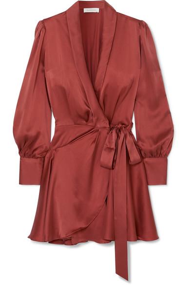 Zimmermann - Silk wrap mini dress