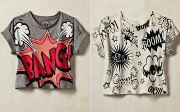 cartoon bang bang t-shirt