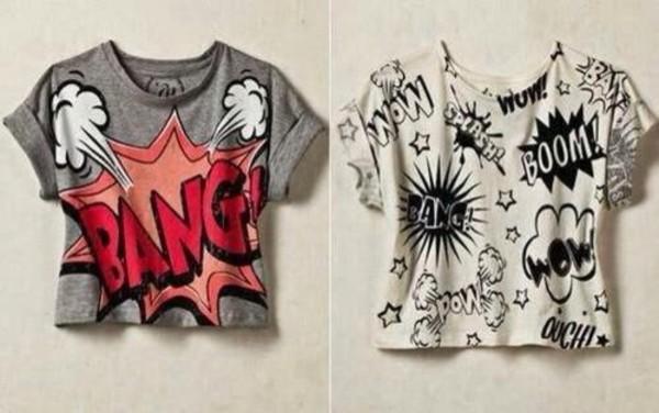 cartoon shirt bang bang t-shirt