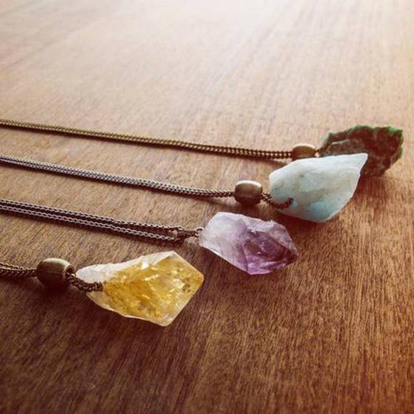 jewels necklace crystal quartz tourmaline amethyst amethyst necklace