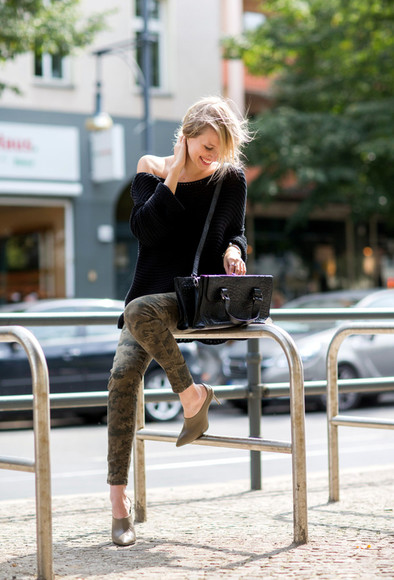 camouflage shoes ohh couture blogger bag camo pants