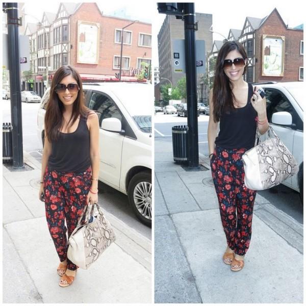 my fash diary pants t-shirt bag sunglasses