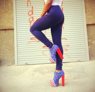 shoes usa flag
