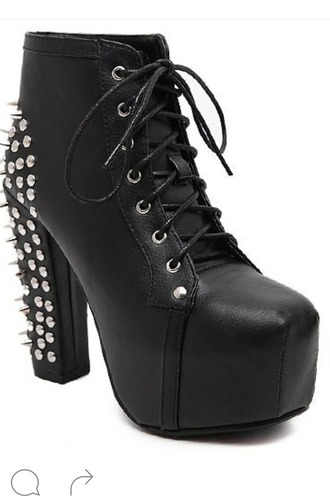 shoes black heels studded shoes leather fancy high heels style goth hipster goth goth shoes gothic boots silver silver shoes