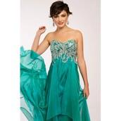 dress,jovani prom dress,crown the empire,chiffon,high-low dresses,back
