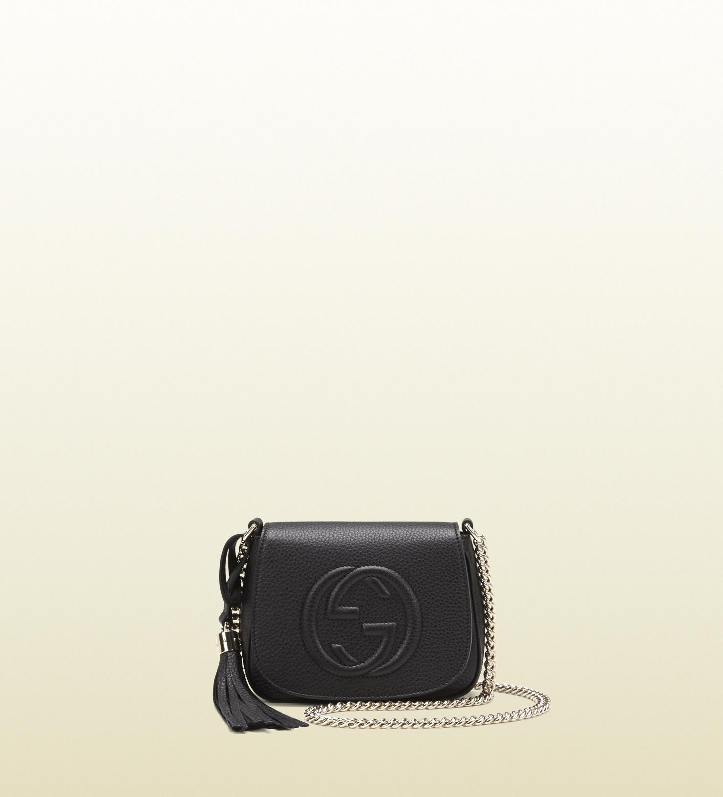 Gucci - sac à épaule soho en cuir 323190A7M0G1000