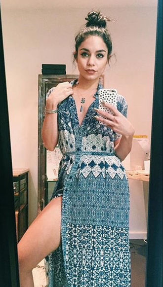 dress vanessa hudgens maxi dress boho instagram