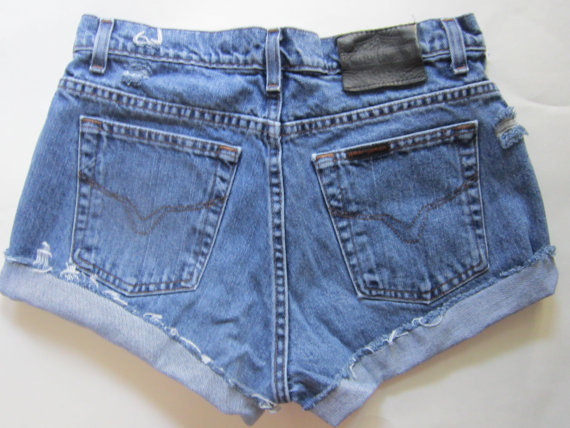Vintage high waisted harley davidson cut by shopcaliforniagirls