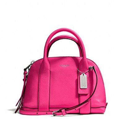 Coach Bleecker Mini Preston Satchel in Pebbled Leather Pink Ruby 30143: Handbags: Amazon.com