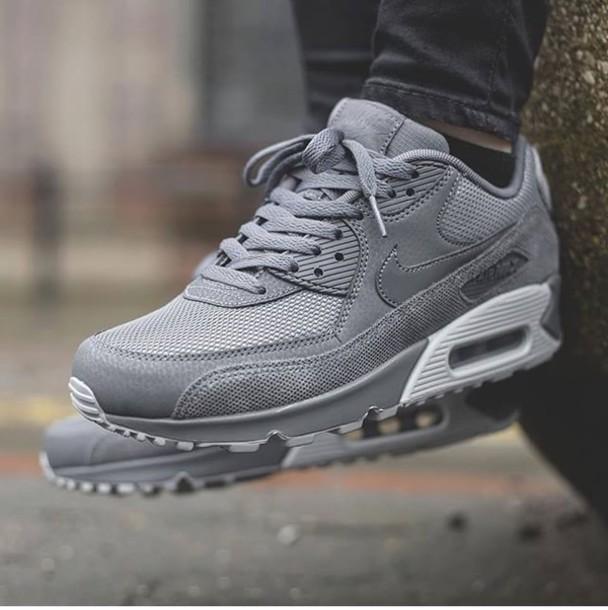 shoes coolgrey nike air max 90 nike sneakers