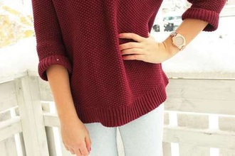 sweater knit red red jumper hipster style chic blogger tumblr knitted sweater knit jumper