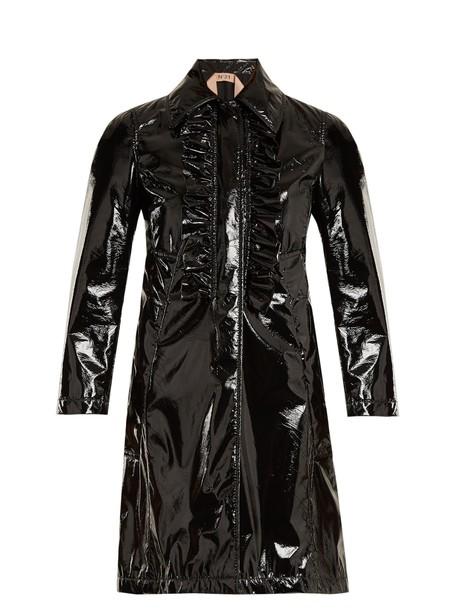 coat ruffle black
