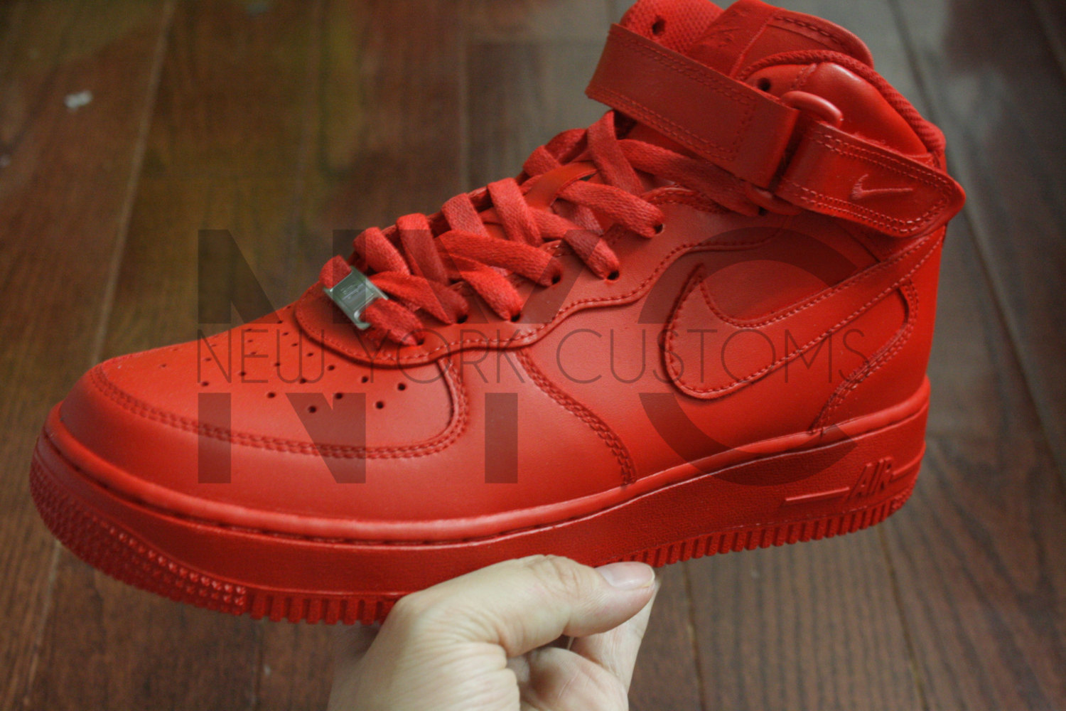 Nike Air Force 1 Mid Top Red October Yeezy Men & Kids