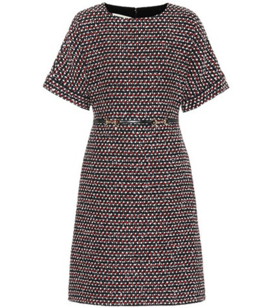 Gucci Sequined tweed dress in black
