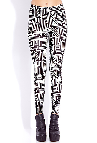 Crazy Maze Leggings | FOREVER21 - 2000051509