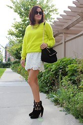 H&M Fuzzy Neon Sweater - Fashion inspiration from real people | LOOKBOOK.nu
