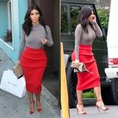 skirt,top,shoes,kim kardashian,alexander wang