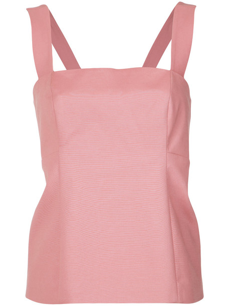 Giuliana Romanno tank top top women cotton purple pink