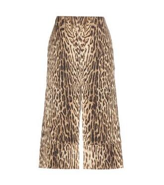 skirt jacquard cotton brown