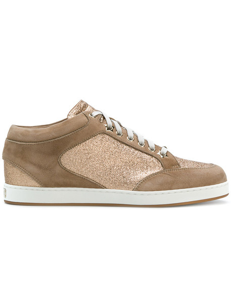 Jimmy Choo women miami sneakers leather nude suede shoes