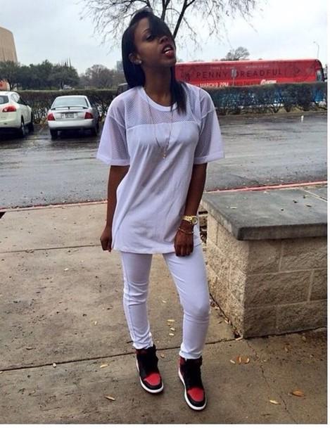 shirt white mesh top