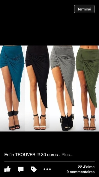 skirt asymmetrical skirt draped skirt draped high-low skirt