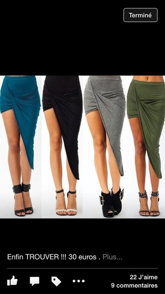 skirt asymetric skirt draped draped skirt high-low skirt