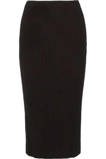 Allude skirt midi skirt midi black knit