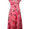 P.a.r.o.s.h. floral print dress, women's, pink/purple, silk/spandex/elastane