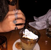 jewels,ring,bold,stackable,stackable ring,look-a-like,statement ring,jewelry,stars,starburst,starburst ring,rings and tings,bling,crystal,kylie jenner jewelry