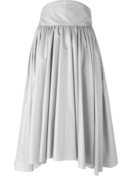 Olympia Le-Tan pleated A-line skirt - Metallic
