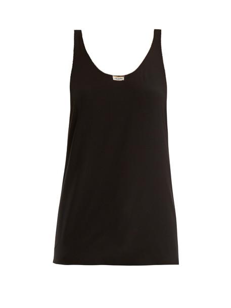 Saint Laurent top silk black