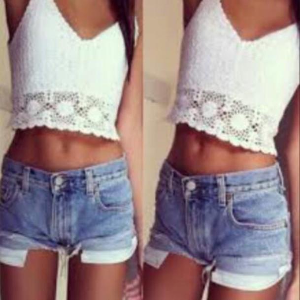 shirt white crop tops cuteclothes