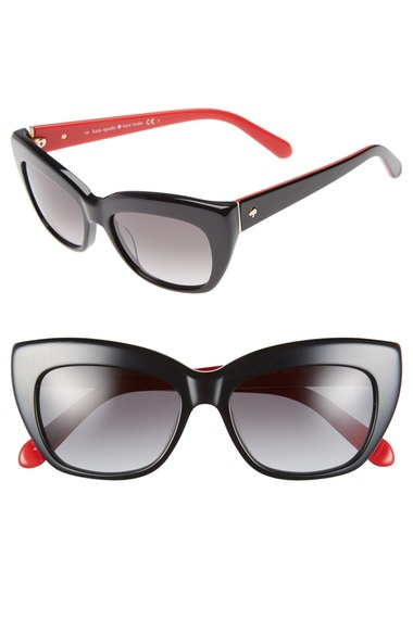 kate spade new york 'crimson' 50mm cat eye sunglasses | Nordstrom