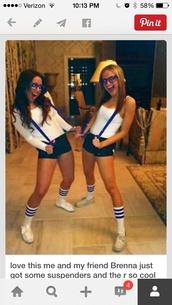 socks,blue stripes,white socks blue stripes,belt,blue suspenders