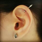 jewels,earrings,cartilage,arrow earring