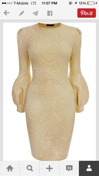 dress beige