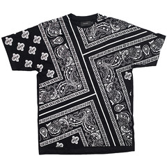 Bandana Tee (Black & White) | Bandana Collection  |  R H U D E