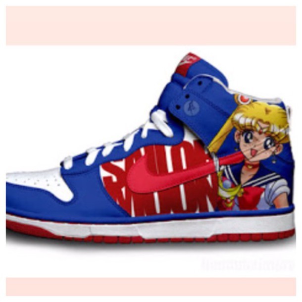 Shoes Dunks Nike Dunks Nikes Sailor Moon Anime Japan