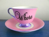 jewels,cup,whore,weheartit,home accessory,tea cup,pink,purple,chinaware