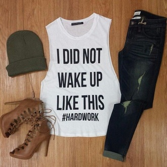 shirt white ootd outfit jeans boots summer love lovely hardwork brown beige outfits fashion summer dress hard rock shoes