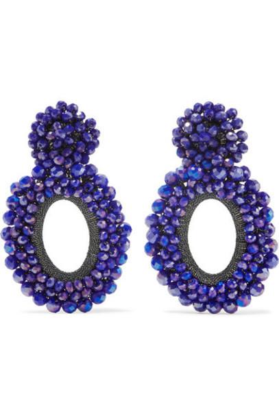 Bibi Marini earrings silk violet jewels