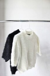 sweater,christmas sweater,fluffy,black,white,jumper,jumper posh