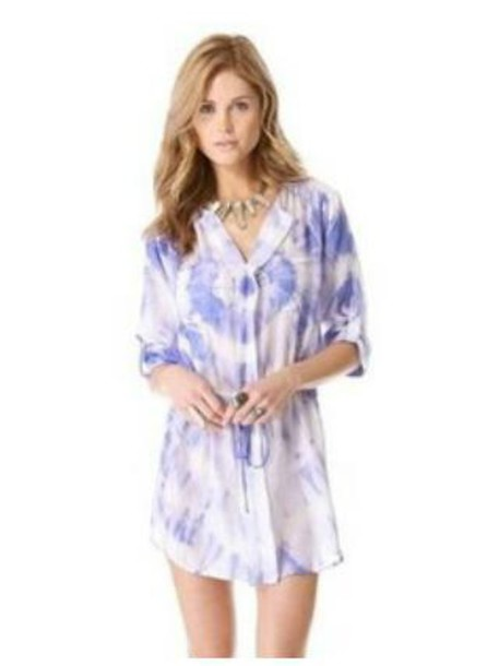 dress blouse dress tie dye dress mini dress
